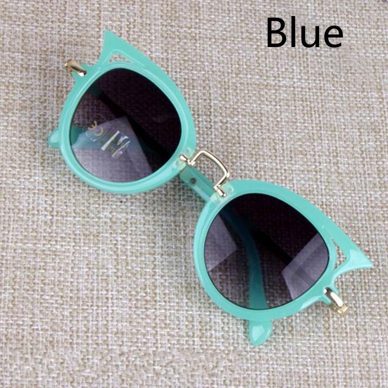 القط العين الاطفال نظارات بوي فتاة الأزياء uv حماية نظارات الشمس بسيطة لطيف النظارات الإطار الطفل نظارات الصيف شاطئ الملحقات