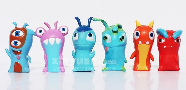 Wholesale-24 Pieces / set Slugterra Toys Slug Terra Action Figures Anime Dolls Gift for Children