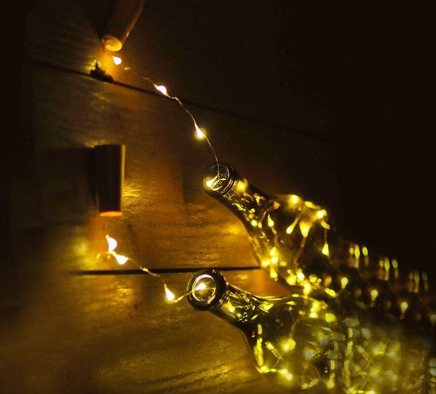 Bottle stopper LED Mini Lights lamp string 1M 10LED/2M 20LED/0.75M 15LED For Wedding Decorations Xmas Party