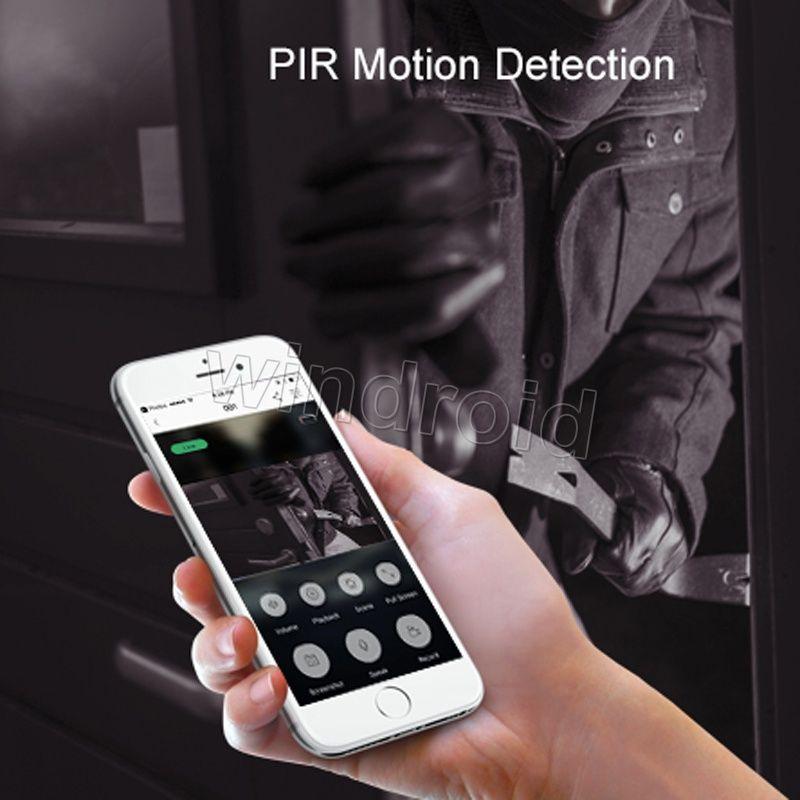 EKEN Home Video Campanello senza fili 2 720P HD Wifi Video in tempo reale Audio bidirezionale Visione notturna Rilevazione movimento PIR con campane Controllo APP