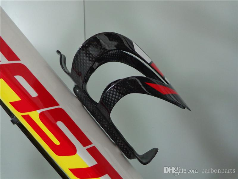 1004 full carbon road bike and mountain bike water bottle holder red white color painted bicycle holder