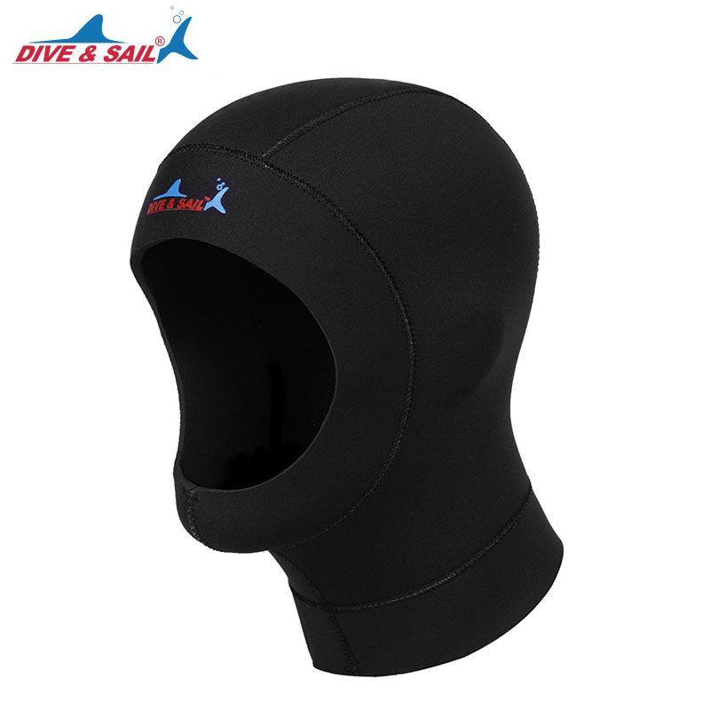 d296ba1b 2019 3mm Neoprene Scuba Diving Caps Accessories Snorkeling Hat Underwater  Deep Keeping Warm Tie Bound Hair Heat Caps Preservation Sunscreen From  Sports09, ...