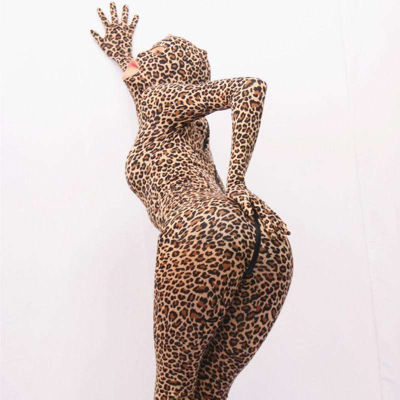 116f4c5dd1c4ca Großhandel LinvMe Unisex Lycra Sexy Leopard Zentai Ganz Offen Mit Augen  Mund Voller Body Neue Zweite Haut Anzug Von Vickay, $54.02 Auf De.Dhgate.