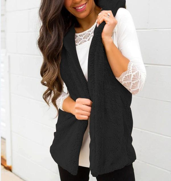 2c3b48d7f8ca3 Women Winter Sleeveless Hooded Warm Waistcoat Cardigan Vest Solid Size S-XL  Online with  39.31 Piece on Lixlon04 s Store