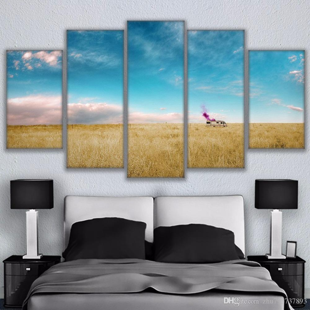 2018 HD Printed Canvas Pictures Frame Poster Thick Growth Of Grass Breaking  Bad Rv Painting Wall Art Living Room Home Decor From Zhu793737893, ...