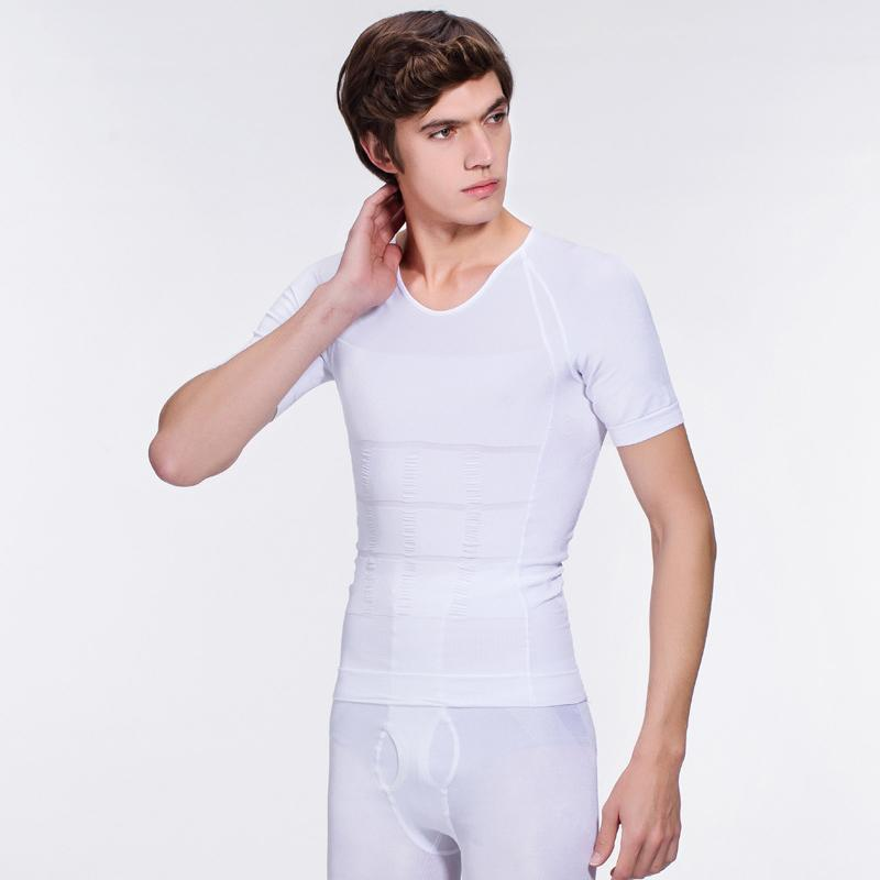 e15da7a812 2019 Mens Slimming Body Shaper T Shirt Shirt Abdomen Withe Slim And Lift  Shirt For Men Tops Underwear Tights Sporting Workout Clothes From  Meinuo110
