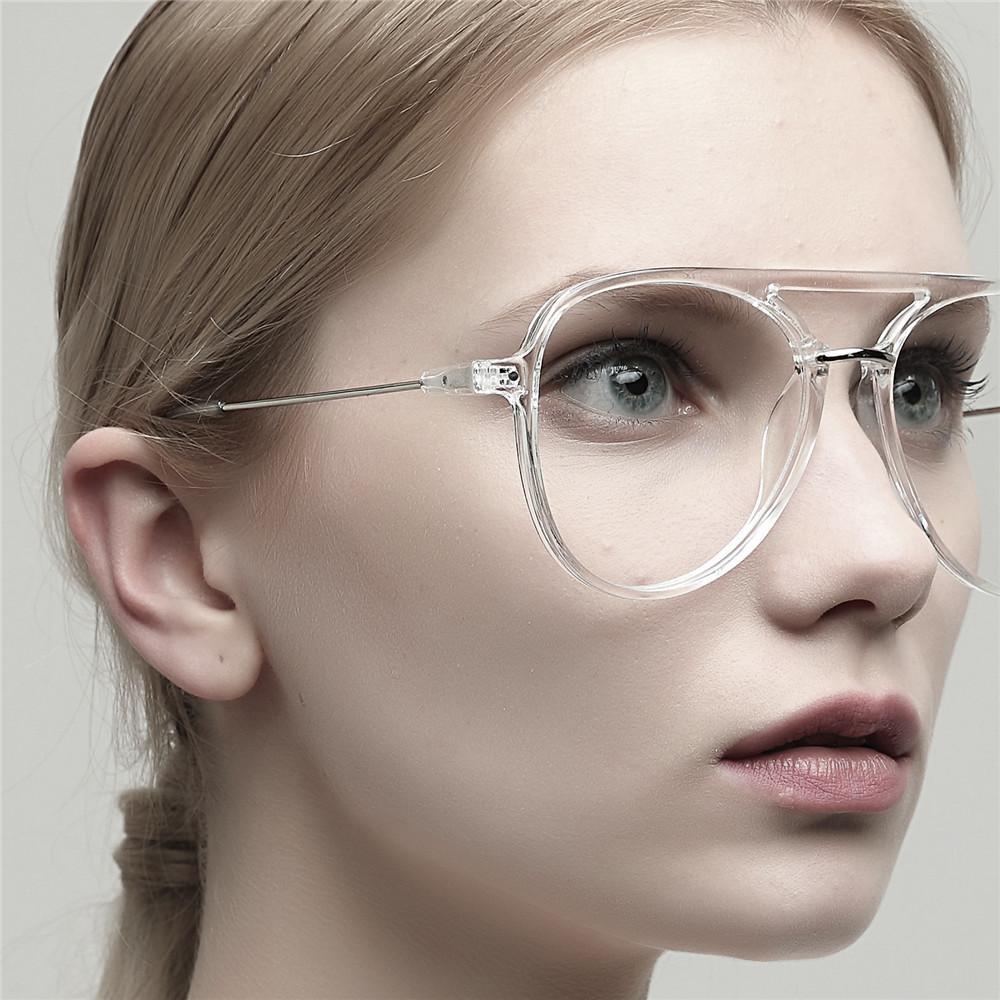 f1cfe6ab8b 2019 EOOUOOE Design Pilot Eyeglasses Women Men Large Size Frame Gafas  Spectacles Oculos Myopia Eyewear Glasses Opticas For Female From Buete