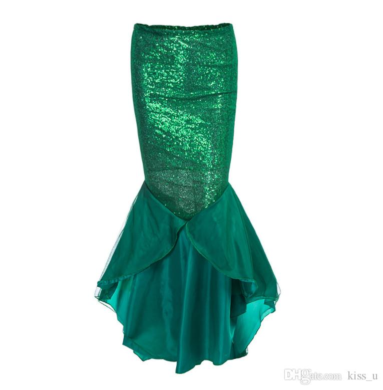 Newest Ladies Women Christmas New Year Costume Mermaid Tail Skirt Party Long Maxi Skirt Cosplay Costume for woman