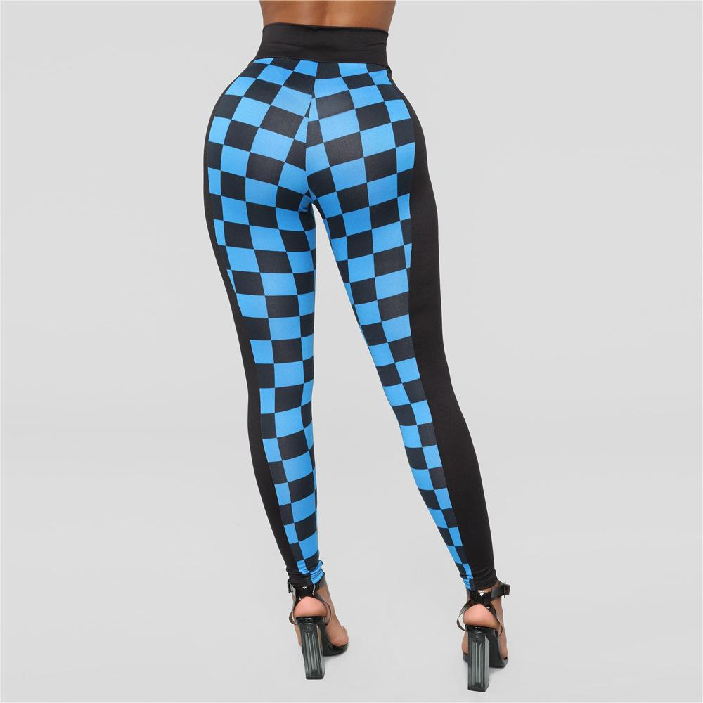 9bca408b6 2019 Sexy Hip Up Sports Leggings Plaid Pattern Yoga Pants Women Workout  Running Trousers Slim Tight Skinny Quick Dry Pencil Legging From Cumax, ...