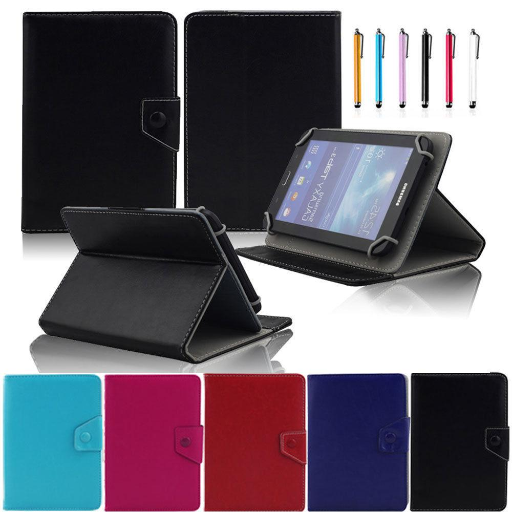 "AIBOULLY 8 inch Universal Leather Case Cover + Stylus Pen For 8"" Le Pan Mini TC802A Tablet Stands Holder"