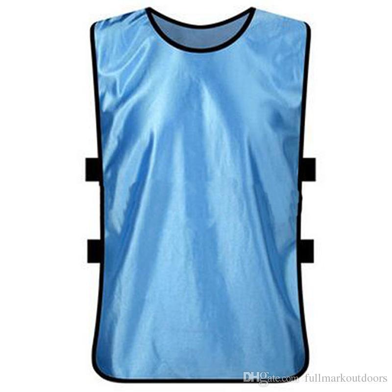 Futbol eğitim yelek pinnies futbol grup üniforma karşı unfilling olmayan karşı takım oyunu karşı bib futbol sporları egzersiz jersey