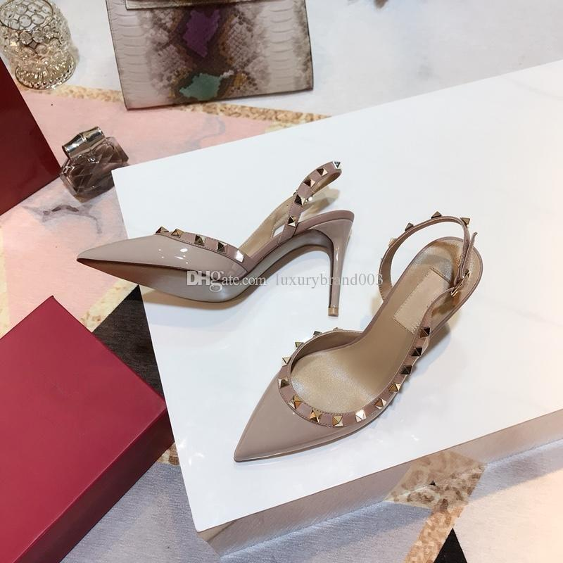 Custom design made in china Ladies high heels dress shoes party fashion rivets girls sexy pointed toe shoes platform pumps rivet shoes