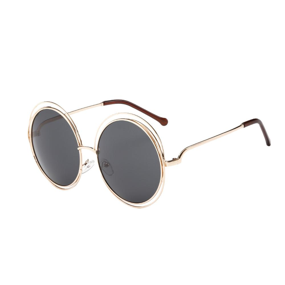 87a11179ba5a7c Oversize Sunglasses Women Round Fashion Men Womens Retro Vintage Round Frame  UV Glasses Sunglasses Lunette De Soleil Femme A8 Mirror Sunglasses Boots ...