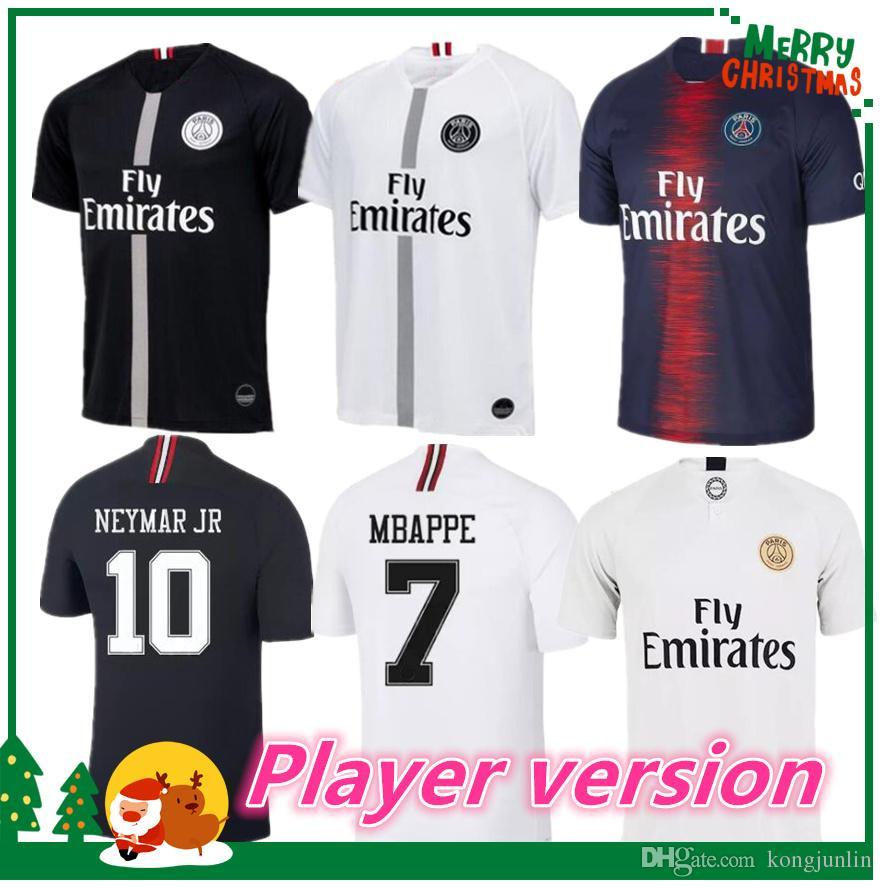 Player Version 18 19 PSG MBAPPE Home Shirt T SILVA CAVANI DI MARIA ... f0e0115100abd