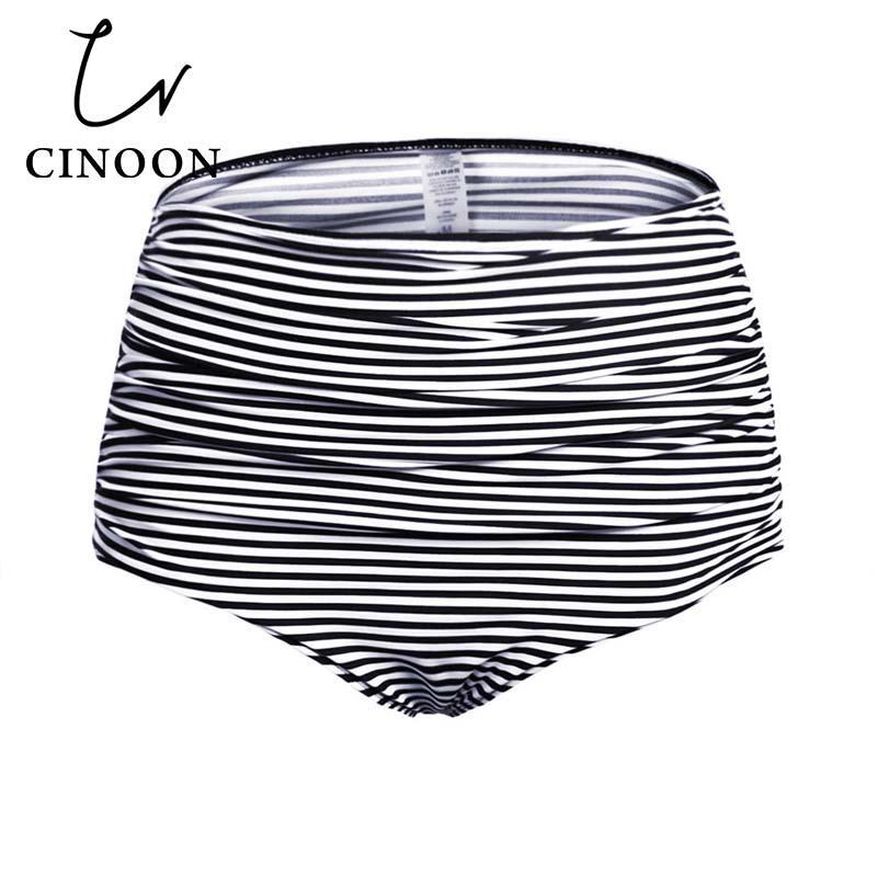 34f5bc38a2 2018 Plus Size Women s High Waisted Swim Bottom Ruched Bikini Tankini  Swimsuit Briefs Underwear Thong Bathing Suit monokini