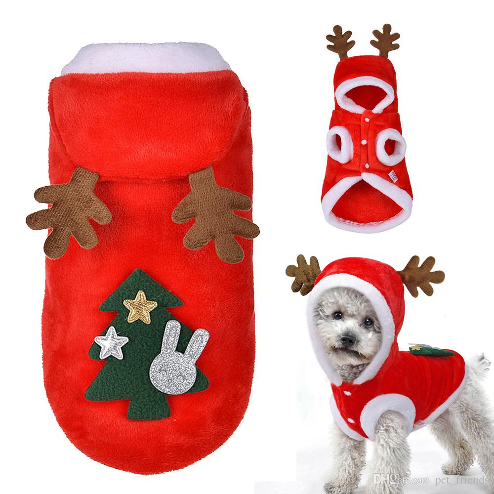 6dc96513ef78b Acheter Costume Vêtements De Noël De Chien D hiver Chien Chat Manteau Pour  Petits Chiens Chats Chihuahua Yorkshire Terrier Vêtements Pour Animaux De  ...