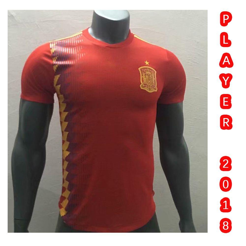 efa35e331 Top AAA Quality S-3XL New 2018 Player Spain World Cup Home Soccer Jersey  Shirt PIQUE ISCO ASENSIO RAMOS MORATA SILVA INIESTA Shirt 2018 Player Spain  Jersey ...