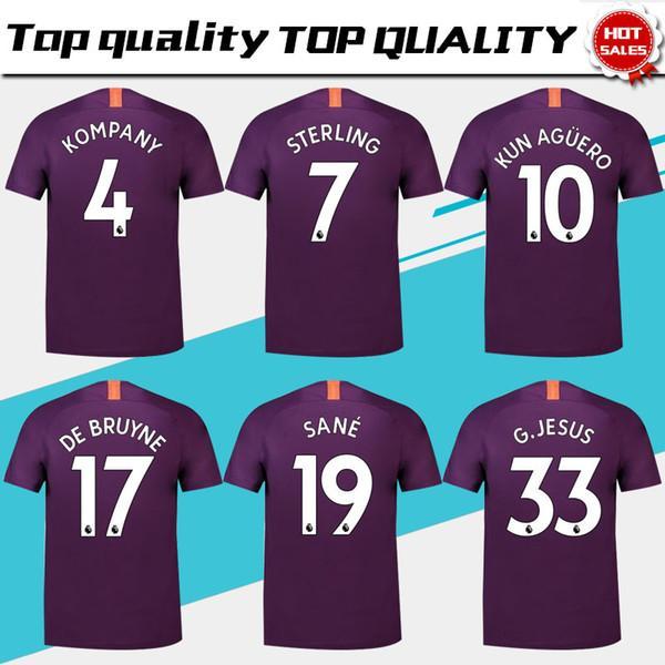 db4dcd08d ... good 2018 manchester city 3rd purple soccer jersey 18 19 10 kun aguero  football shirt 2019