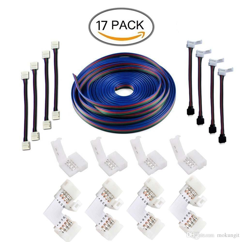 164ft5m 4 Pin Rgb Led Strip Extension Cableled Strips Connectors Connector Wire View Kits With Jumpersl Shape Connecters For 5050 Flexi
