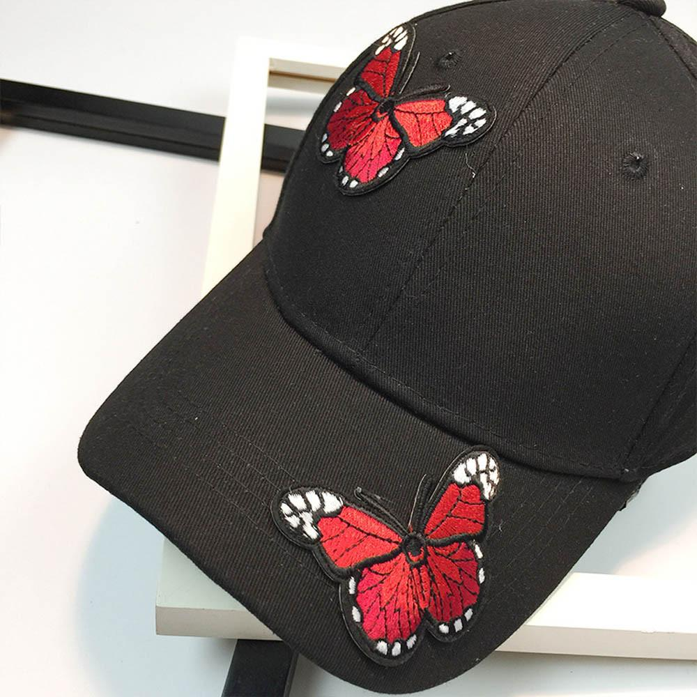 Branded Women Men Couple Butterfly Baseball Cap Unisex Snapback Hip Hop  Flat Hat Summer Cotton Cap Outdoor Wear Casquette Femm Customized Hats  Custom Hat ... 9669d0f1112