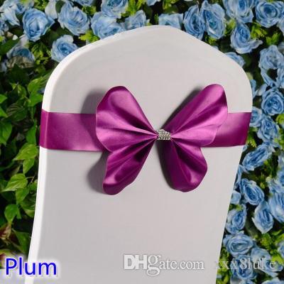 Großhandel Plum Farbe Stuhl Schärpe Hochzeit Mini Stil Schmetterling ...