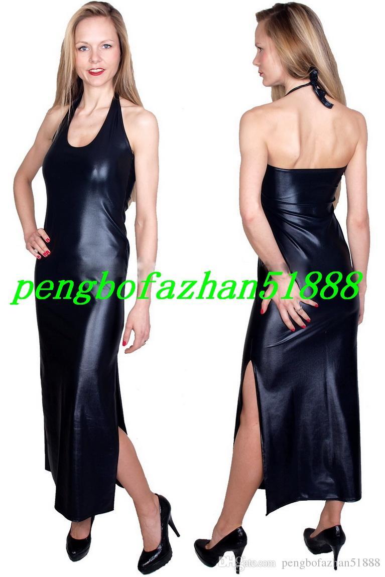 Nuove donne abiti lunghi sexy i brillanti abiti metallici donne sexy abiti discoteca gonna lunga vestito da festa di Halloween Suit P250