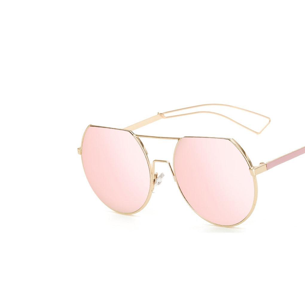 Compre Hot Moda Marca Designer Retro Pequeno Rodada Óculos De Sol Das  Mulheres Dos Homens De Metal Do Vintage Armação Rosa Espelho Óculos De Sol  Feminino ... 3b1a935b42