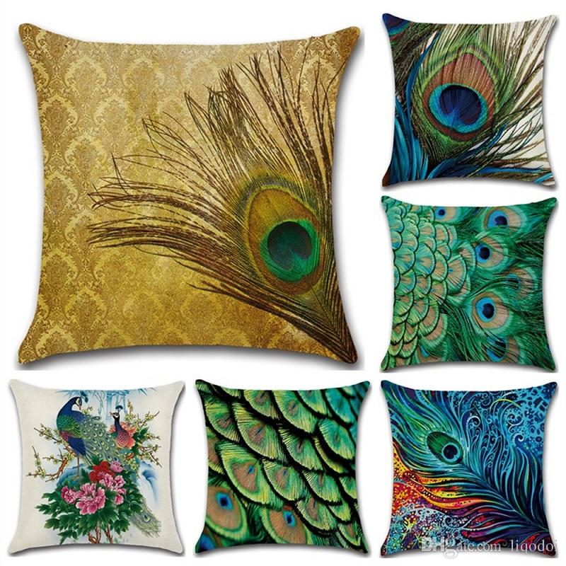 Fashion Style Linen Cushion Covers 45x45cm Throw