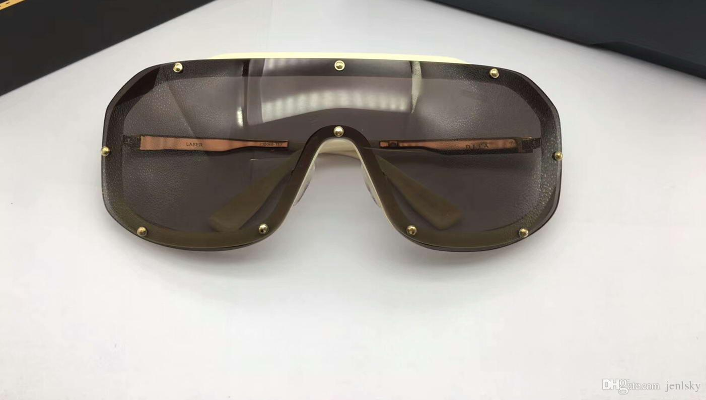 6747cec19d Cool Laser Gold Brone Brown Oversized Sunglasses Mens Luxury ...