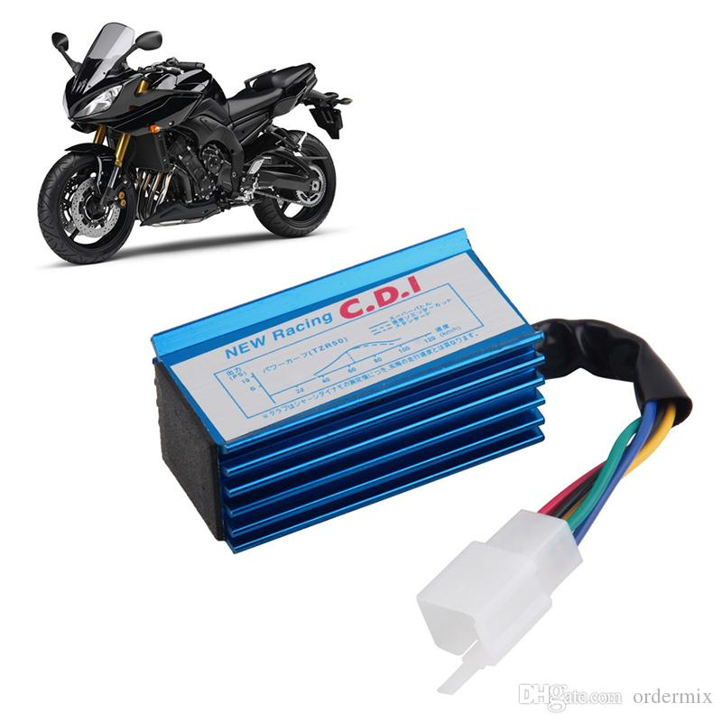 Performance 5 pin Racing CDI Blue Box +Ignition Coil For GY6 Scooter Moped 50CC 70cc 90cc 110cc 125cc 150CC