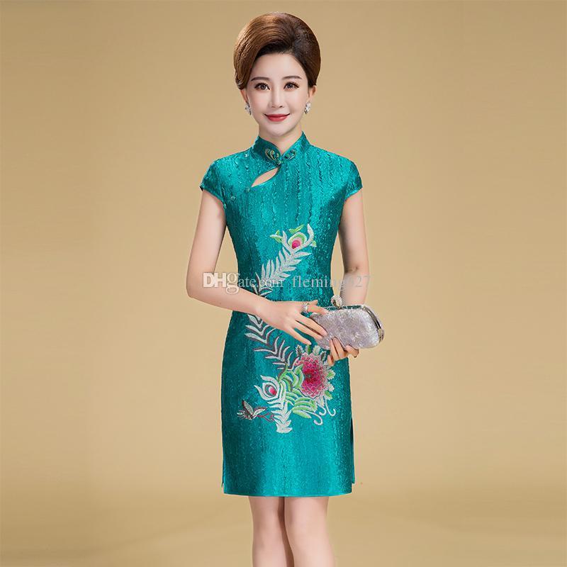 New arrival plus size Retro Chinese Women summer Cheongsam Dress QiPao  short Party Wear elegant Cheongsam Dresses for Women Lady