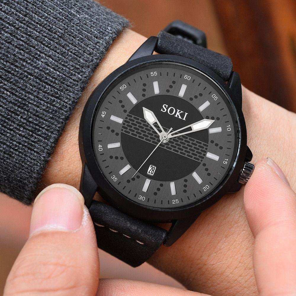 77e363edb61 Compre SOKI Relógio Dos Homens Minimalista E Elegante S 1017 Casal Moda  Cinta De Nylon Quartzo Analógico Rodada Relógio De Pulso Relógios De  Splendone