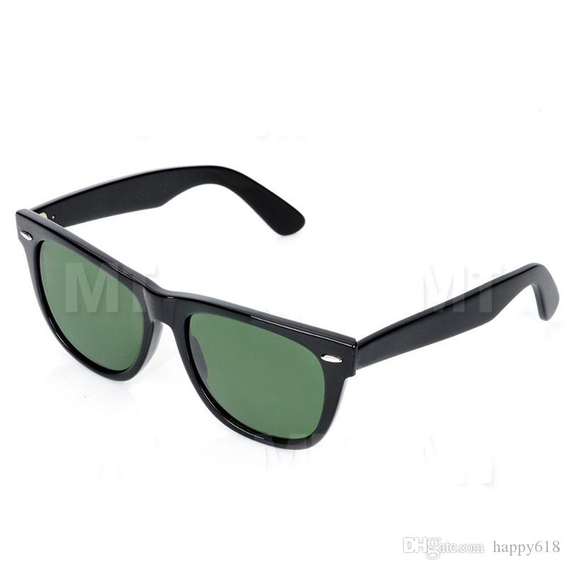9040da091ce High Quality 2140 Plank Black Sunglasses Glass Lens Black Frame Green Lens  Plank Sunglasses Beach Sun Glasses Fashion Wayfarers Sunglasses Metal Hinge  ...