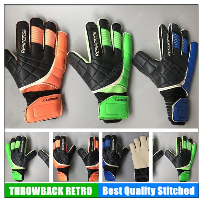 HOT New Professional Goalkeeper Gloves Football Soccer with Fingers  Protection Latex Goal Keeper GK Soccer Calcio Futebal Fútbol BLUE RED Gift  Present ...