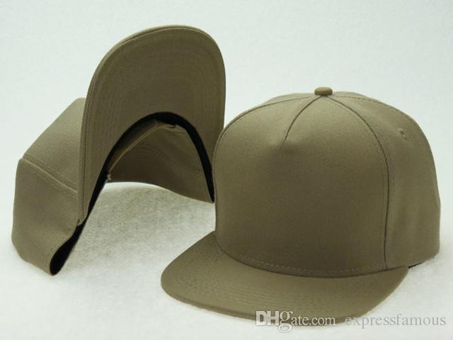 Hot Designer Plaine Blanc snapback chapeaux hip hop réglable à plat bord Casquettes de baseball de coton blanc bleu noir blanc rouge 20 couleurs choisir