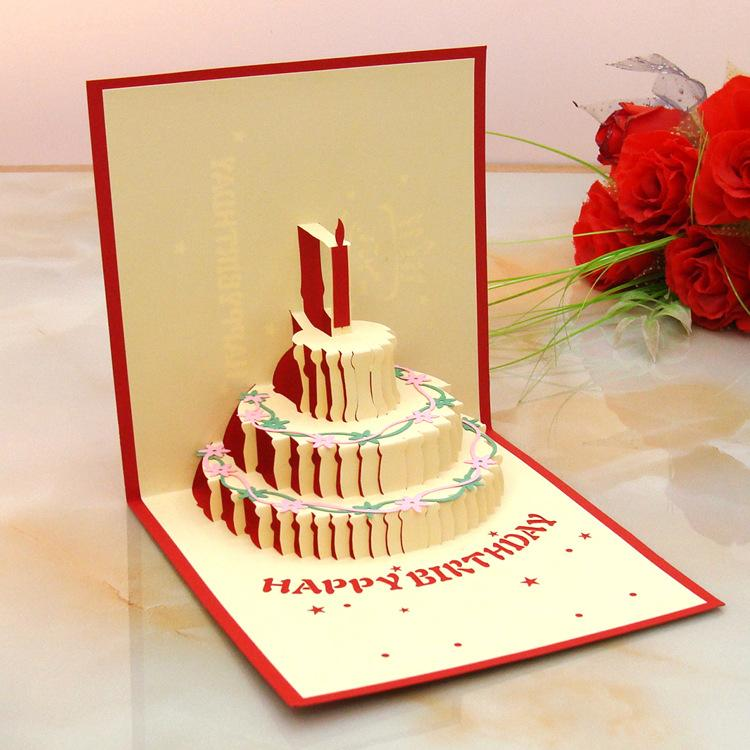 Hot New 3D Pop Up Cards Invitations Valentine Lover Love Romantic Birthday Wedding Anniversary Greeting Gift Postcard Christmas