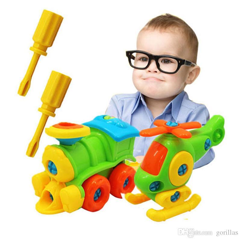 Bricolage Éducatifs Jouets Tournevis Blocks Démontage Assemblé Voiture Petite Avec Building Outil Pince Modèle Enfants qc4j35RLA