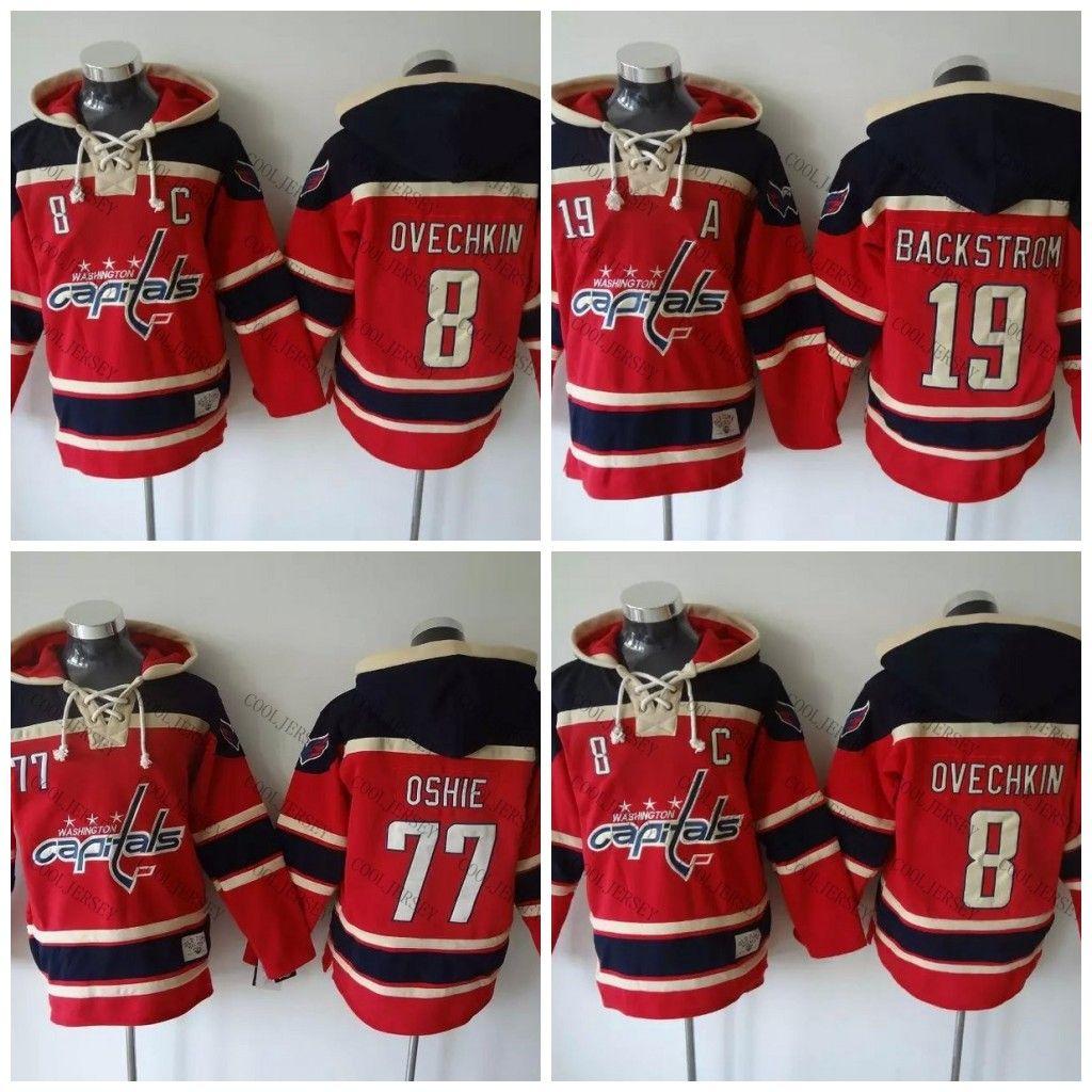 Compre Washington Capitals Hoodie Hockey Camisas 8 Alex Ovechkin 19 Nicklas  Backstrom 77 Oshie Hóquei Com Capuz Camisola Hoodies Jersey De Cooljersey 063b1fada6eb5