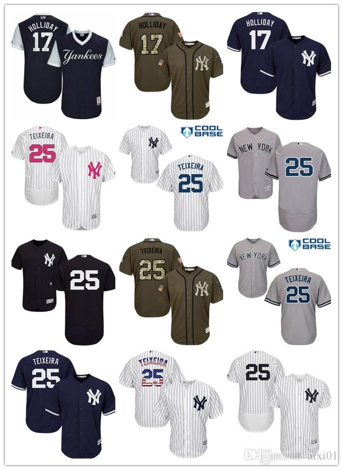 new product f1aa7 8bba5 yankees 17 matt holliday navy blue alternate stitched youth ...