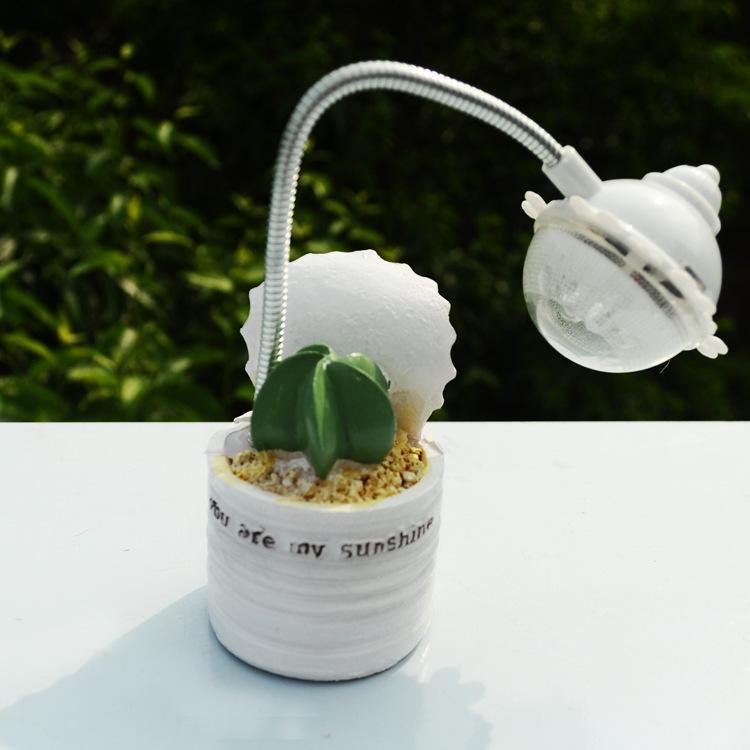 Harz Handwerk Sukkulenten Nachtlicht Mini Elektronische Led Leuchten Schuler Schreibtischlampe