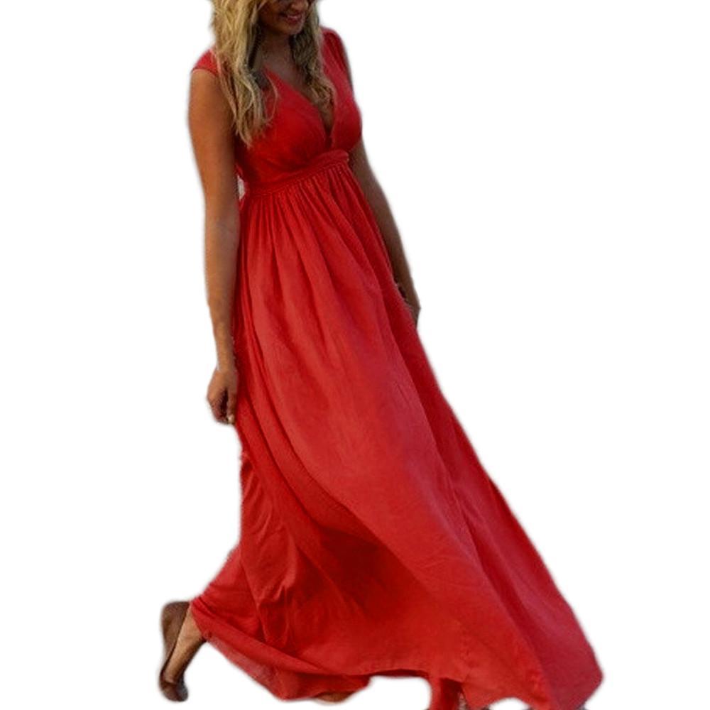 Wrap Robe Convertible Maxi Longue Partie Honneur Boho Multiway Club Infinity Femmes Demoiselles D Sexy Bandage Femme Rouge l1JTKFc