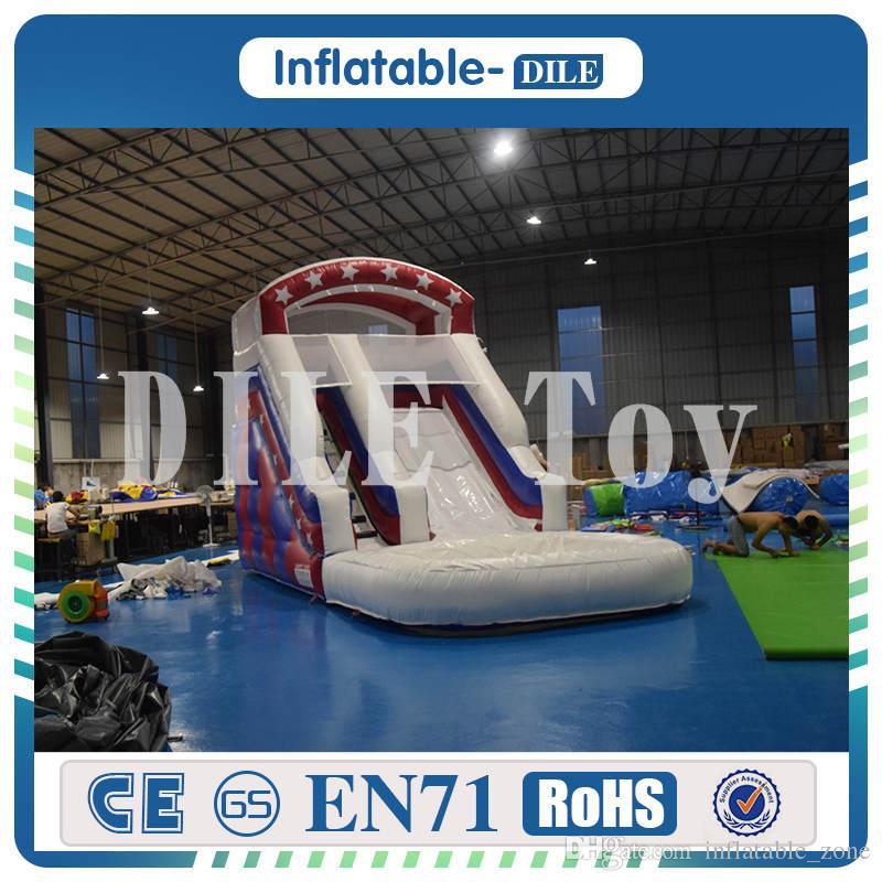 Freies Verschiffen Tür zu Tür Kinder Aufblasbare Wasserrutsche Bounce Haus Jumper Bouncer Jump Bouncy Castle