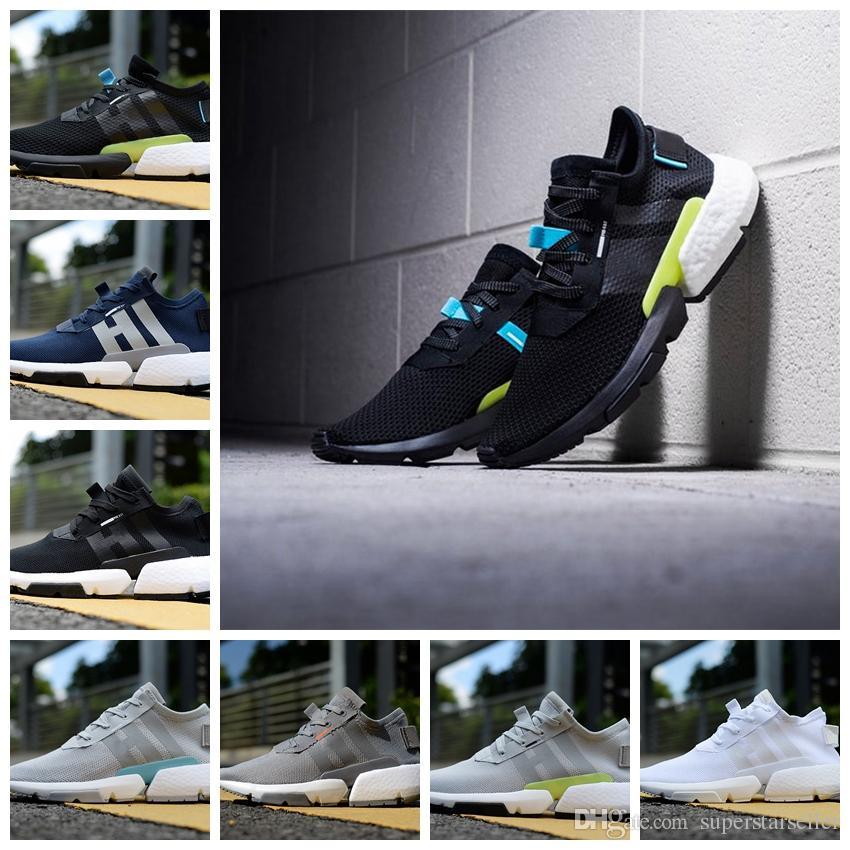 new product 036a0 32f13 Compre 2018 Nuevos Originales Pod S3.1 Triple Blanco Negro Azul Rosa Hombres  Mujeres Zapatos Deportivos Zapatillas De Running Chaussures Zapatillas De  ...