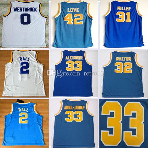 31ab42b88 ... get 2018 top ucla bruins college basketball jerseys 0 russell westbrook  42 kevin love 33 abdul