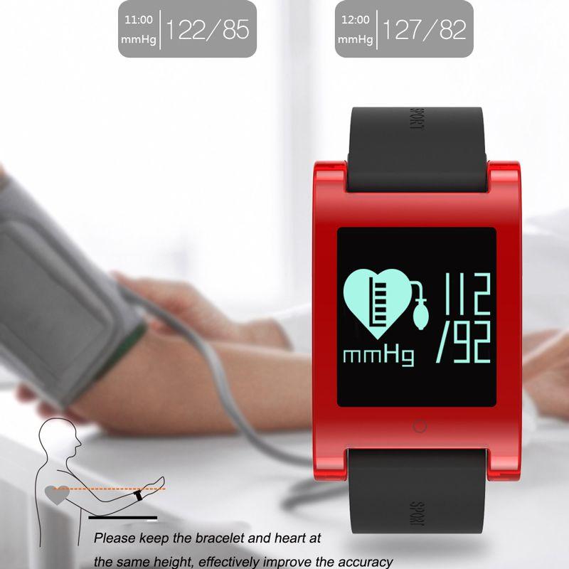 f63b36cec77a OTHA DM68 Rastreador Pulsera Impermeable Pulsera Inteligente Monitor de  Ritmo Cardíaco Presión Arterial Sports Podómetro Reloj Inteligente de ...