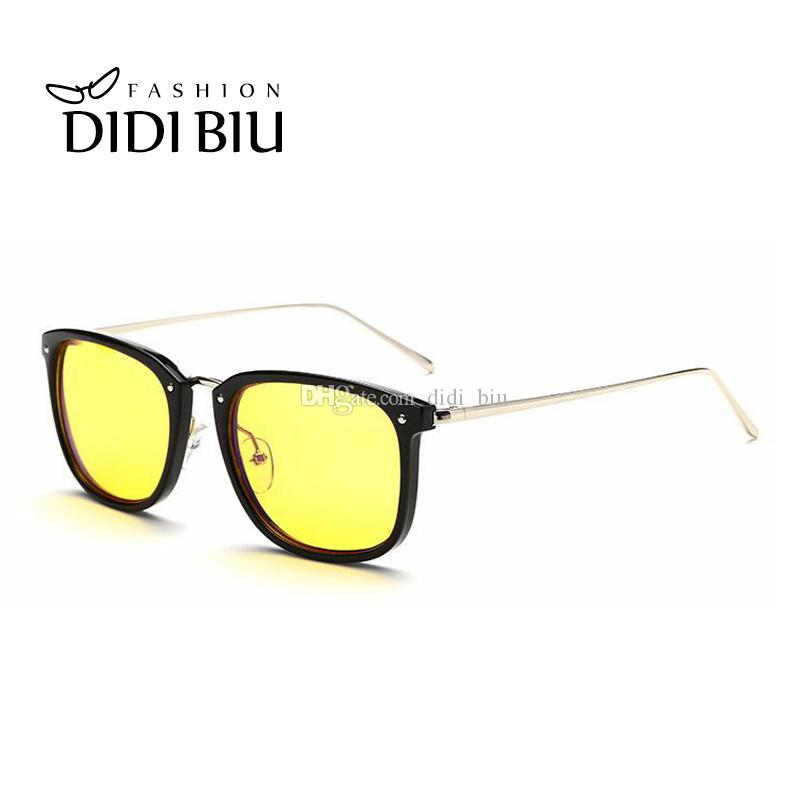 79084daa0f Anti Blue Ray Yellow Lens Computer Glasses Gaming Transparent Brown ...