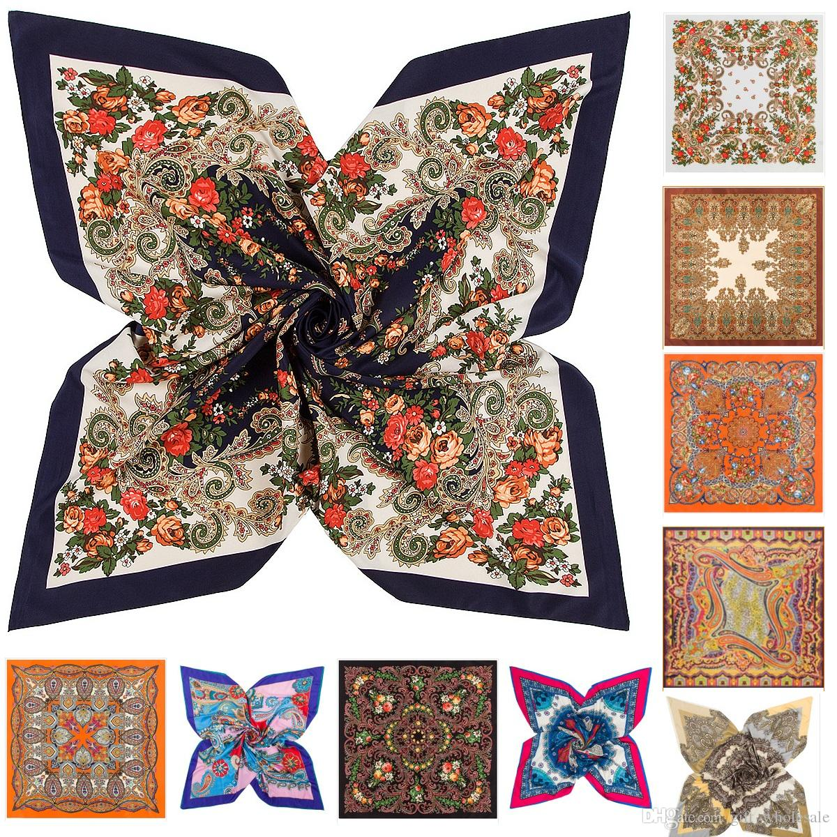 77 Styles Designer Scarf Summer Twill Silk Scarf For Women Scarves Wraps  Bandana Hair Scarf Print Paisley Floral Women Square Silk Scarves Ladies  Scarves ... 6e7214ef907