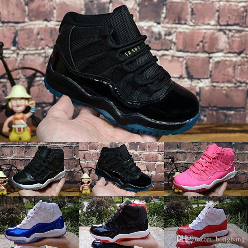 cheap for discount f4bcd 28540 Großhandel Nike Air Jordan 11 Gym Red XI 11 Kleinkind Schuhe Bred Space Jam  Kinder Basketball Sneaker Concord Gamm Blau Neu Geboren Baby Infant 11s  Schuhe ...