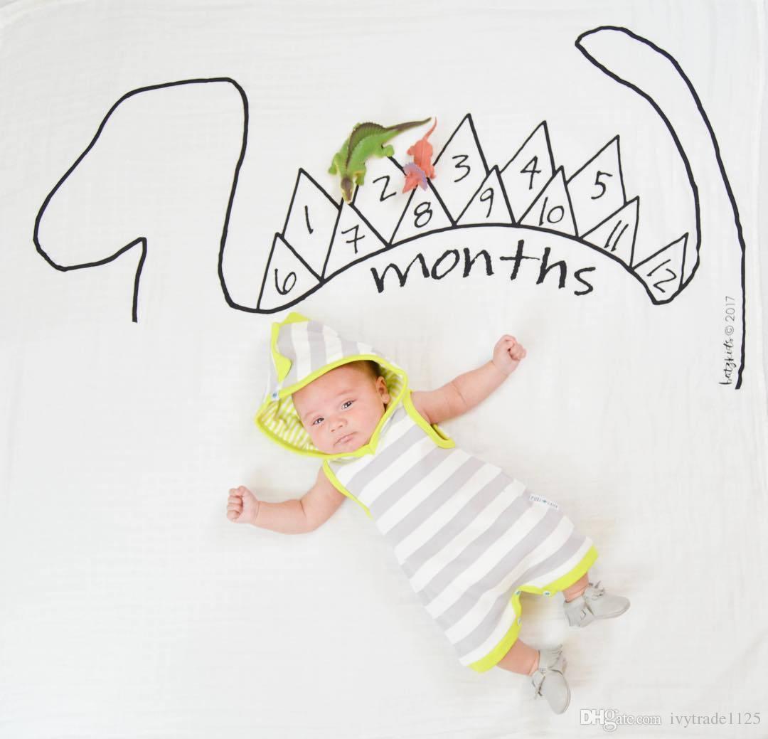 5 Arten Säugling Baby Fotografie Hintergrund Gedenken Decken Photographic Props Rose Auto Schloss Dinosaurier Print Photographic Kleidung