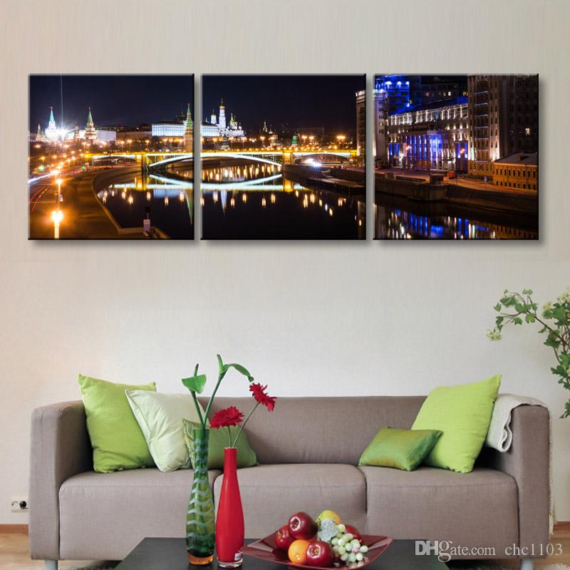 high-definition print night view canvas prints painting poster and wall art living room picture CSYJ3-010